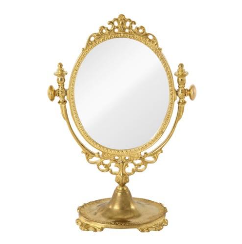 アンティーク調 卓上ミラー 小型鏡 スタンドミラー